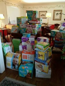 A mound of diapers!